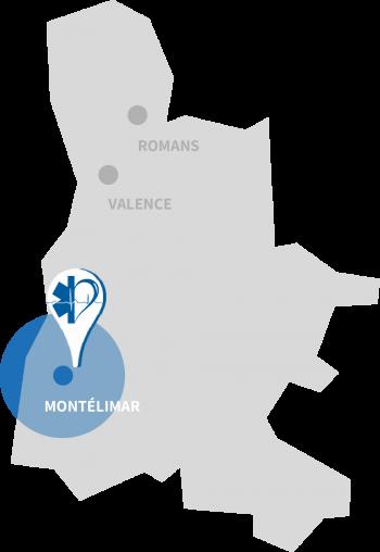 localisation Ambulance, VSL et taxi à Montélimar Ardrome Ambulances